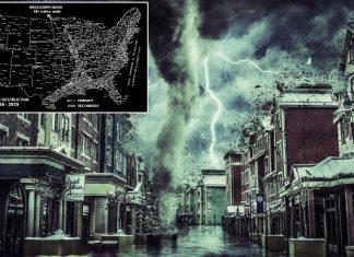 ¿Reveló un viajero en el tiempo el mapa de EE.UU. luego de las catástrofes?