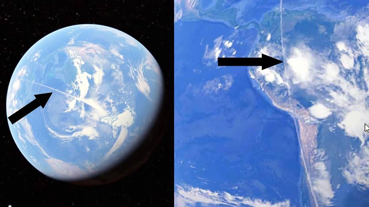 Satélite capta misteriosa línea que cruza 21 Km en todo el mundo