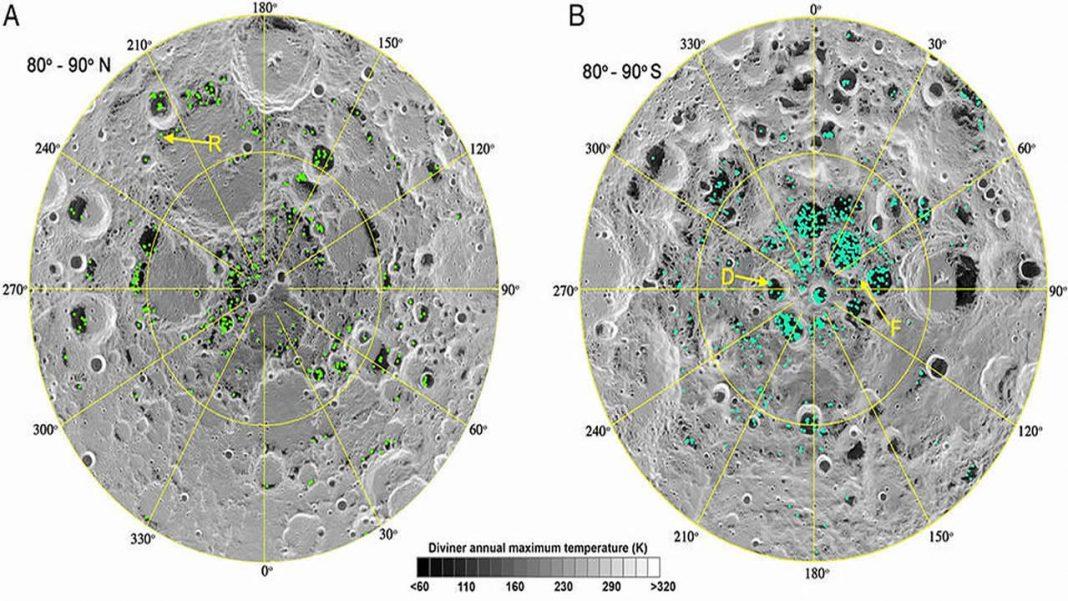 Se confirma que hay hielo en los polos de la Luna