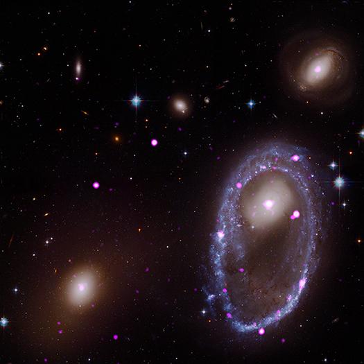 Descubren anillo de agujeros negros a 300 millones de años luz de la Tierra