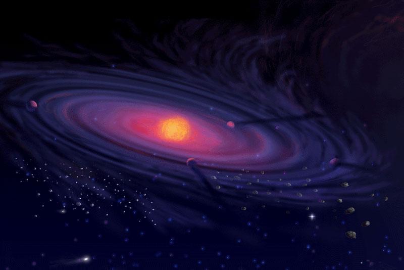 Concepto artístico de un disco protoplanetario.