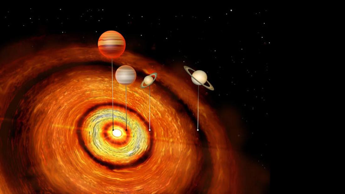 Descubren insólito sistema extrasolar «joven» con exoplanetas gigantes