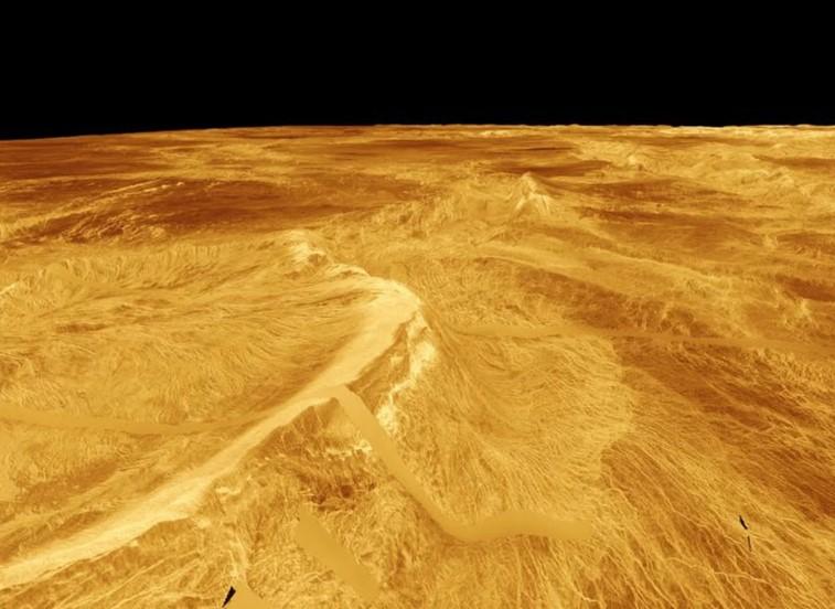 Venus según la misión Magellan.