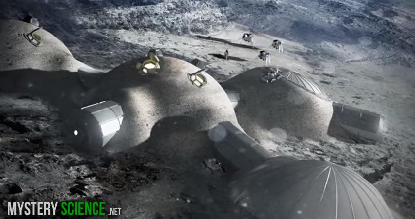 Europeos en la luna