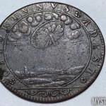 moneda francesa con un ovni