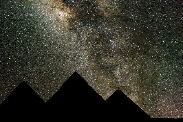 Piramides y cinturón de orion