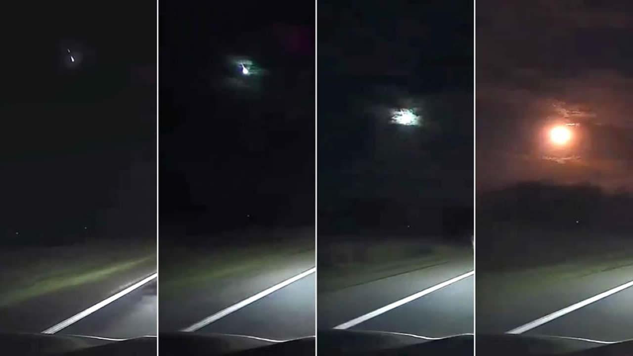 Meteorito ilumina el cielo nocturno en Australia