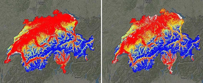 Suiza se está quedando sin nieve, según estudio científico