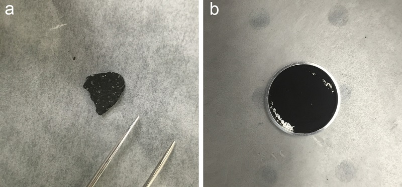 Comparación de los espectros del infrarrojo medio de un trozo del meteoroide del lago Tagish y los espectros recogidos de Phobos por la nave espacial Mars Global Explorer.