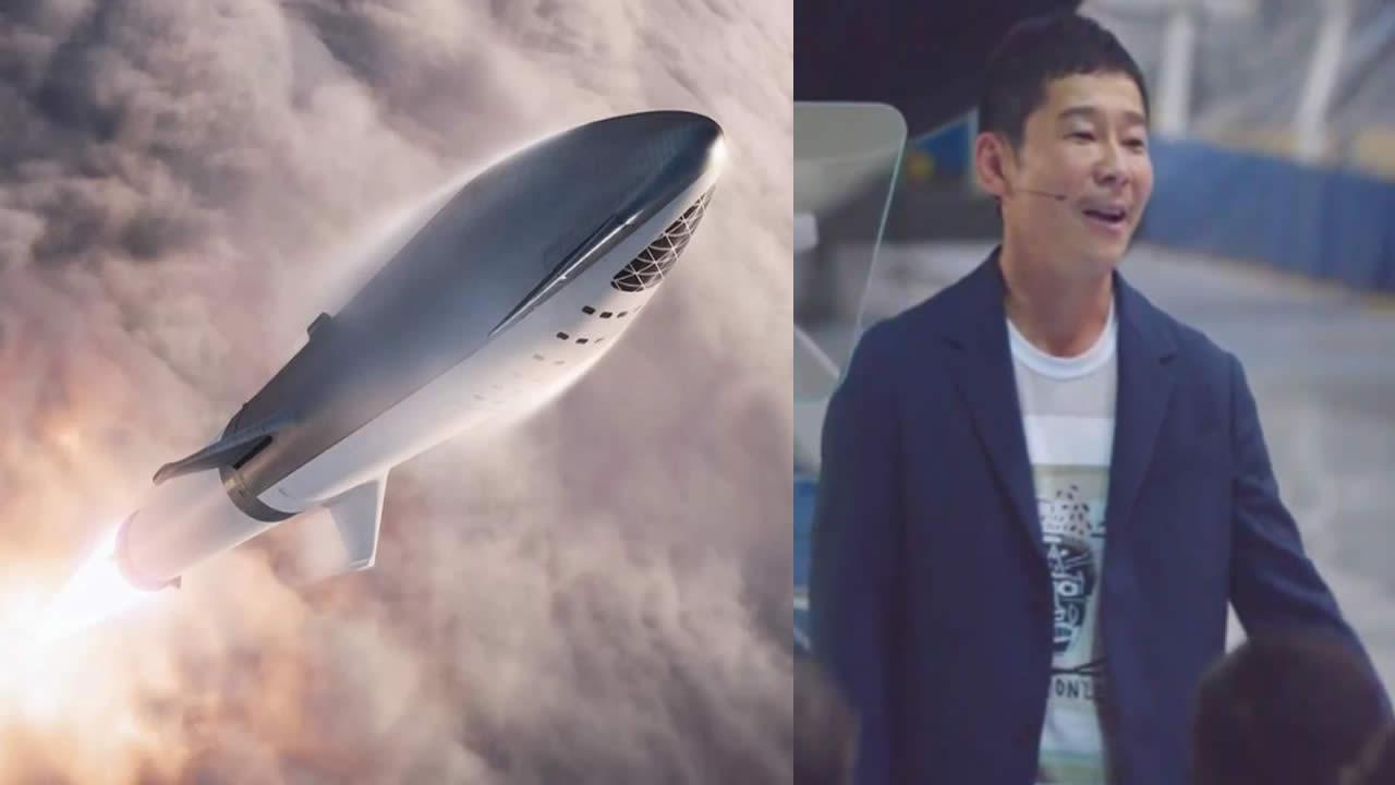 Multimillonario japonés será el primer turista lunar