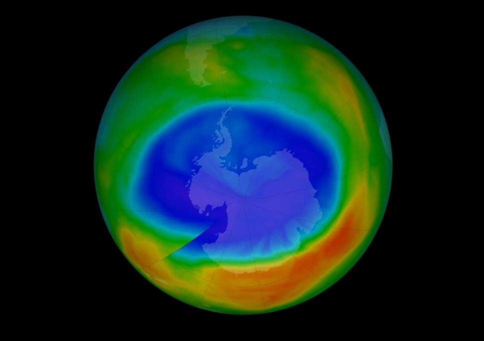 El agujero en la capa de ozono.
