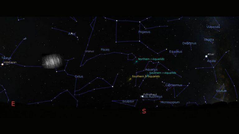 nube de Kordylewski en el cielo nocturno