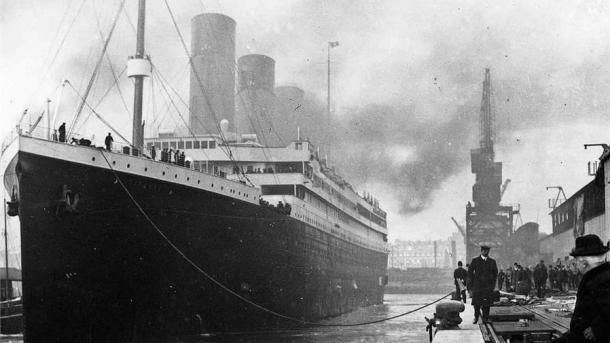 El Titanic en los muelles de Southampton, el 10 de abril de 1912.