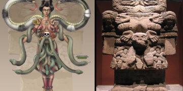 Coatlicue, la diosa serpiente ¿reptiliana? de los aztecas