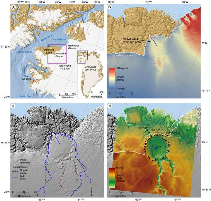 Descubren un enorme cráter de impacto en Groenlandia.