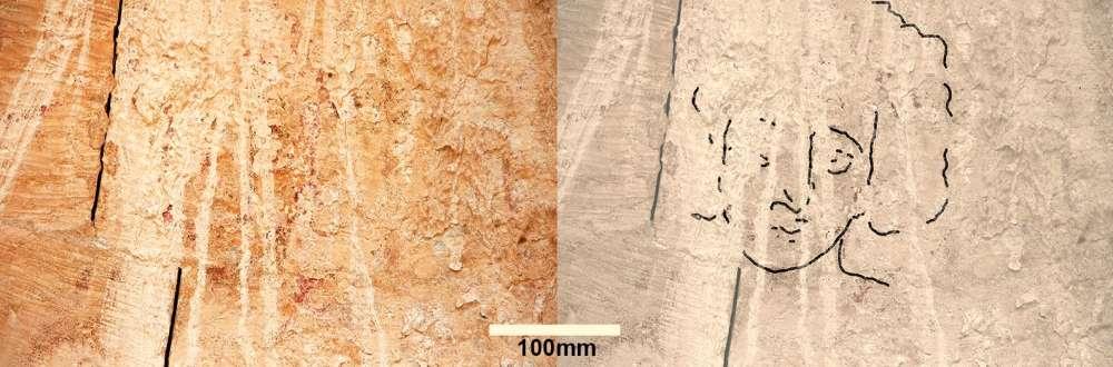 Descubren pintura del rostro de Jesús de 1.500 años de antigüedad