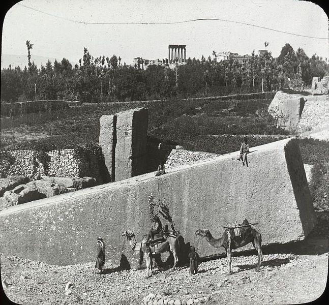 Otro bloque de piedra colosal en Baalbek