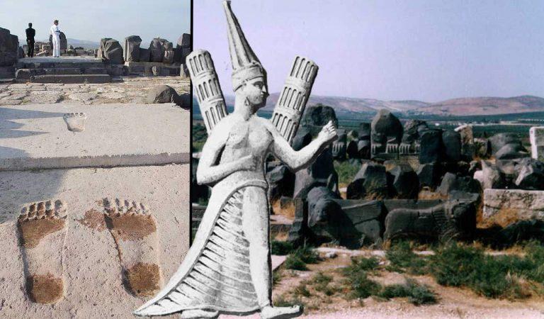 Huellas de gigantes del templo de Ain Dara… ¿huellas de los Anunnaki? ¿Nefilim?