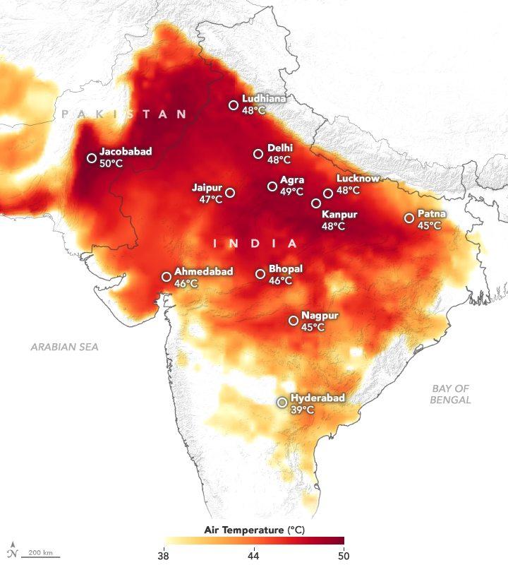 Ola de calor en India deja 49 muertos hasta el momento