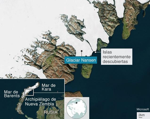 Islas recientemente descubiertas en Rusia