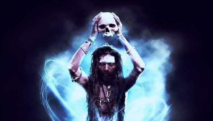 Representación de un chamán comunicándose con los «espíritus del cielo».