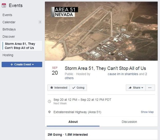 Evento asalto al Área 51