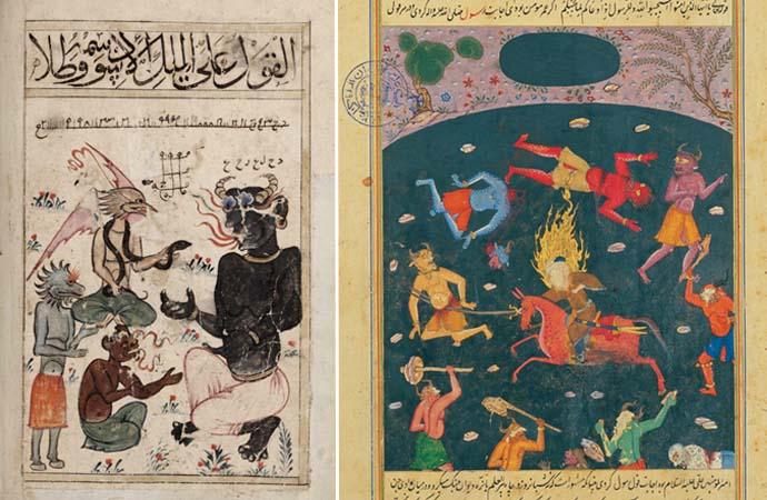 epresentaciones de humanos y jinns en el arte islámico