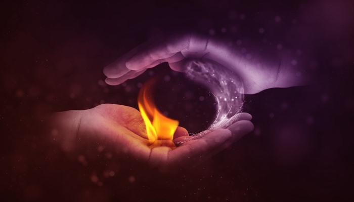 El agua y el fuego como los opuestos del yin yang.