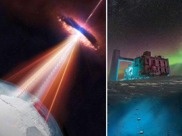 Neutrinos detectados en la Antártida tiene su origen en un agujero negro supermasivo