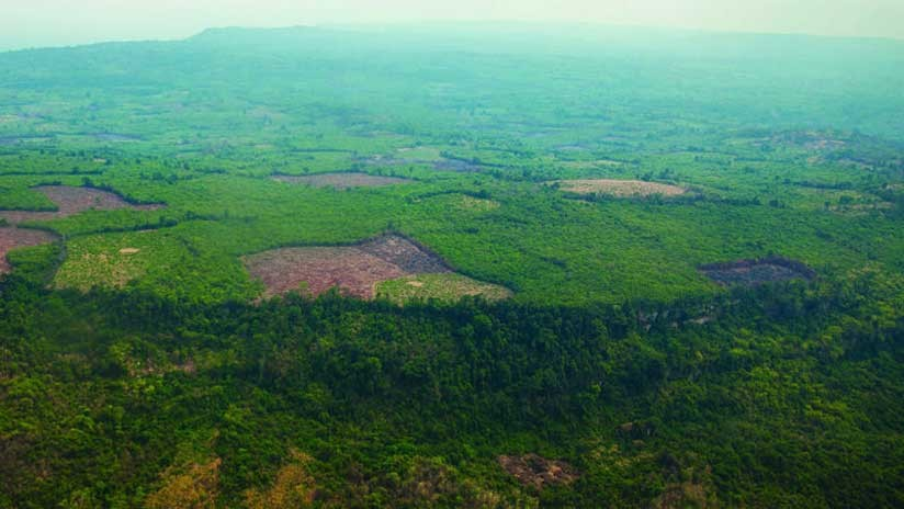 Vista aérea de Phnom Kulen