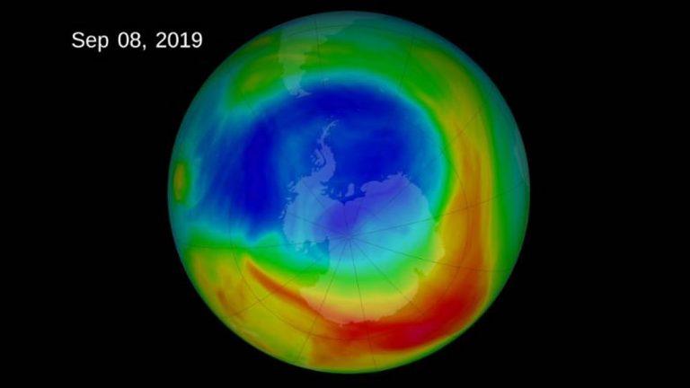 El agujero de la capa de ozono ha alcanzado su tamaño más pequeño desde su descubrimiento (VIDEO)