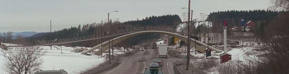Puente en Oslo inspirado en da Vinci