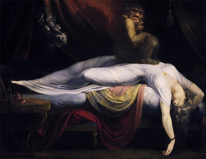 Un íncubo durante la parálisis del sueño