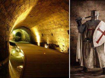Hallan túneles ocultos usados por los Caballeros Templarios para transportar sus tesoros