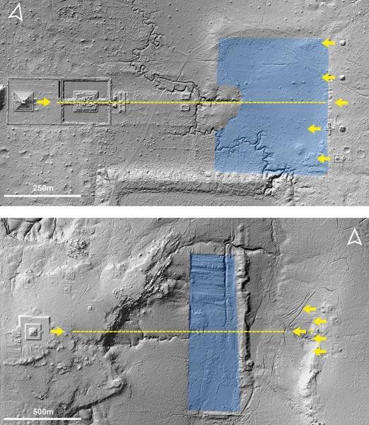 pirámide central, santuarios y reservorios hallados