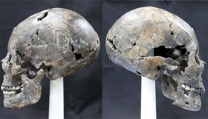 Cráneo de la mujer de Corea