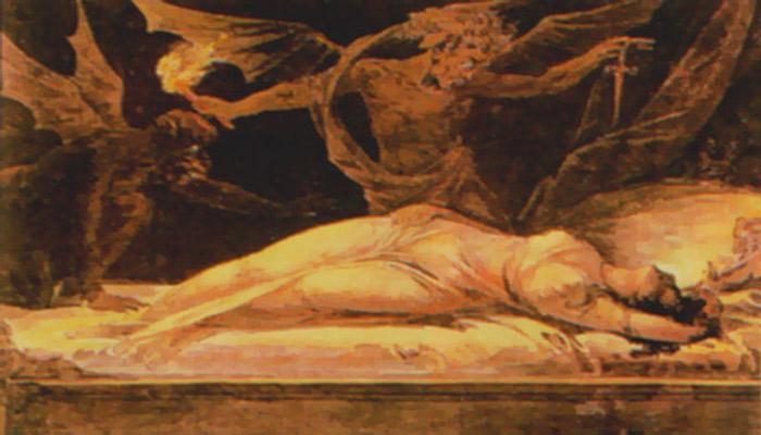 Pintura de 1870 de un demonio sexual