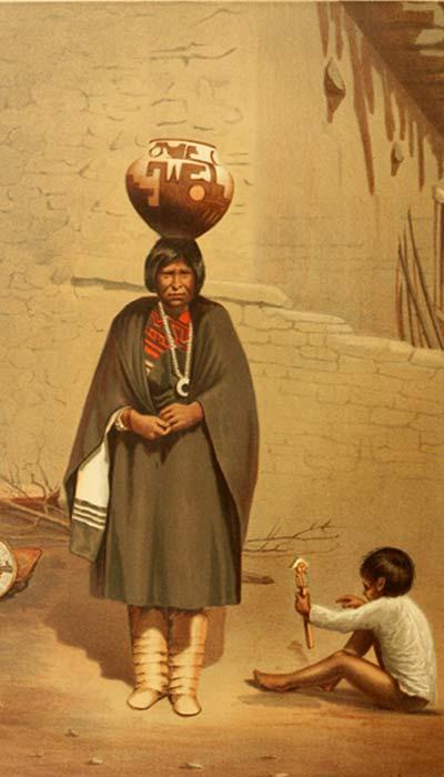 Retrato de mujer de la Tribu Zuni