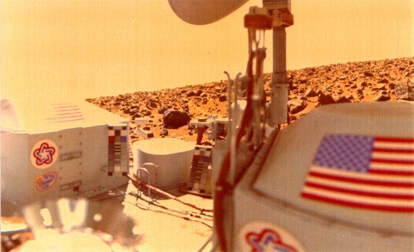 Viking lander en Marte.