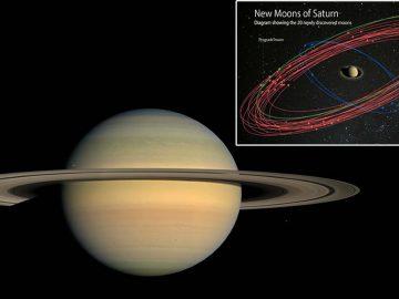 Saturno tiene 20 lunas nuevas