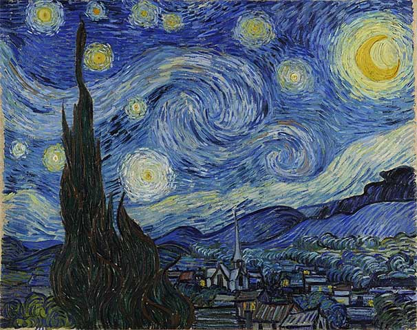 Pintura La noche estrellada