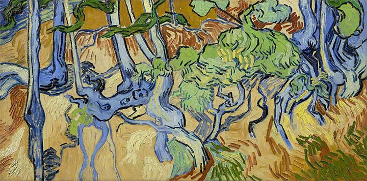 Van Gogh Pintura Raíces de árbol