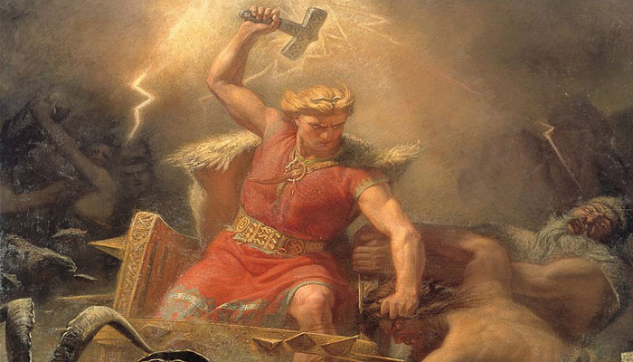 Thor dios nórdico del trueno
