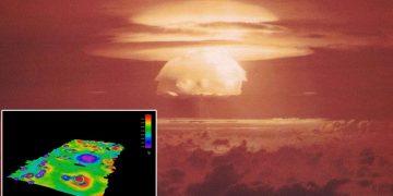 Realizan mapas de enormes cráteres en el fondo marino formados por explosiones nucleares
