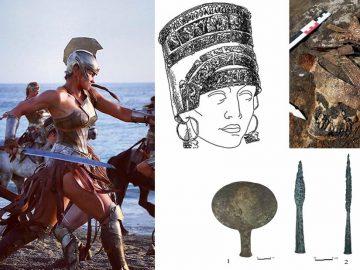 Hallan los restos de cuatro amazonas escitas con sus armas y un tocado ceremonial