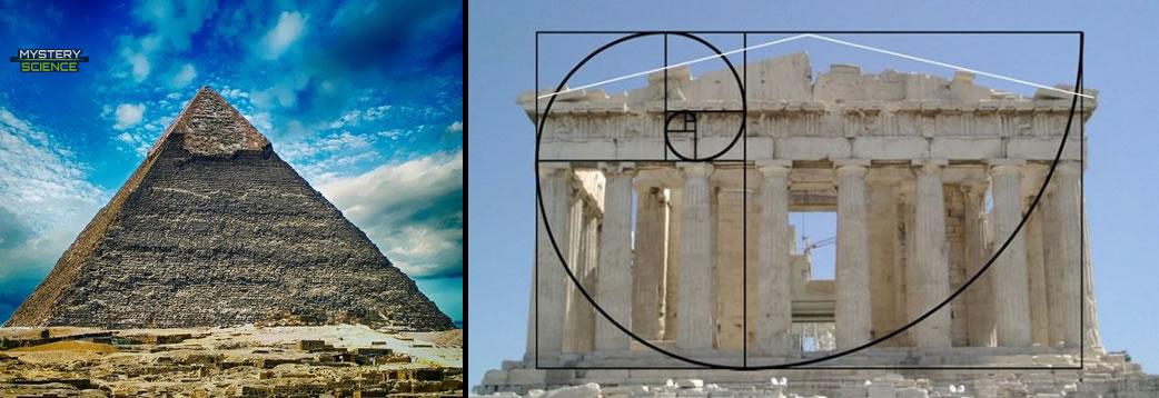 Construcciones históricas con la proporción áurea