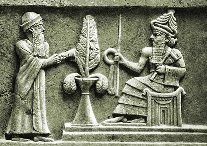 Grabado de un rey sumerio