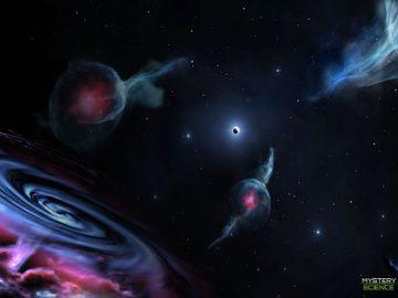 Detectan 4 enigmáticos objetos orbitando un agujero negro supermasivo