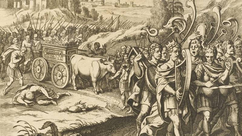 El rey David regresa con el Arca de la Alianza