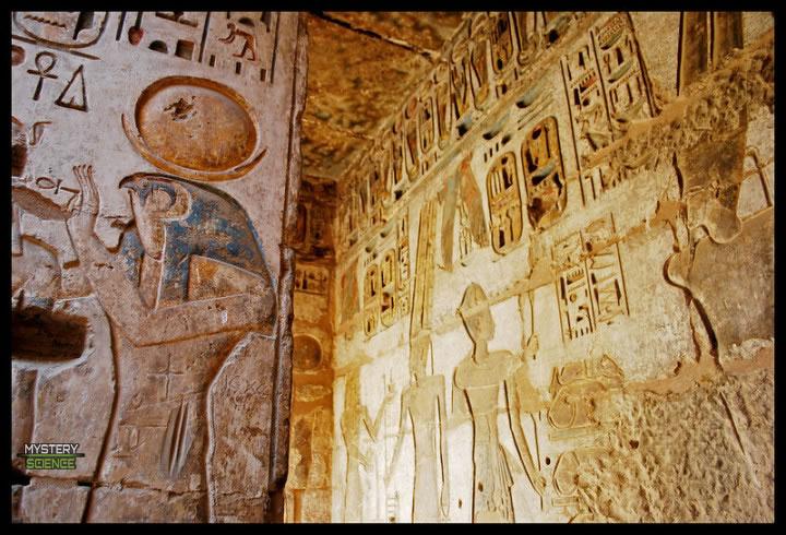 Ra en un templo egipcio